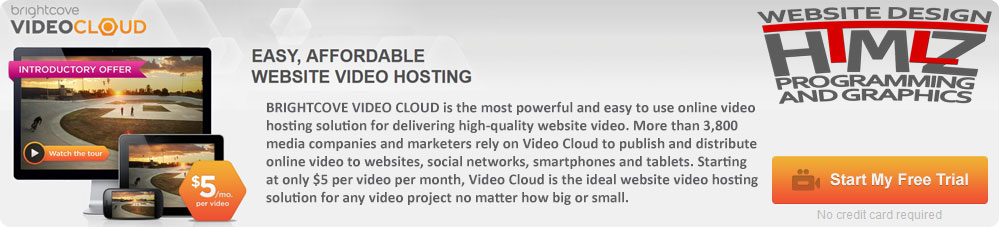 brightcove free video cloud hosting